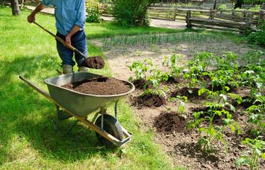 Посадка картофеля обычной лопатой - это просто, быстро, недорого